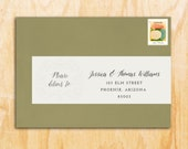 Personalized Wraparound Mailing Address Labels - Ribbon - Banner 25 PRINTED Wedding, Pink, Cute Labels, Bon Voyage, Themed Label, Ribbon