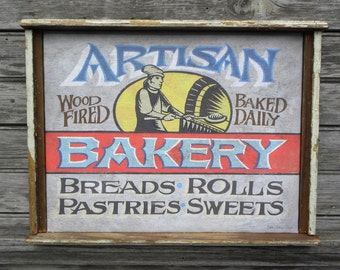 Artisan Bakery    Gallery Wrap with old trim  GW.AB2