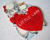 "60% OFF Mid Century ""Little Lamb"" Children's Classroom Valentines Day Card"