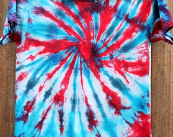 Red, White, and Blue Tie Dye T-Shirt Adult Small, Medium, Large, XL, 2XL 4th of July Tie Dye Fourth of July MADE to ORDER