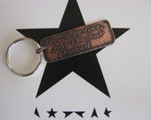 David Bowie, David Bowie Jewelry, Bluebird, Blackstar, Copper, Key Chain, Etching