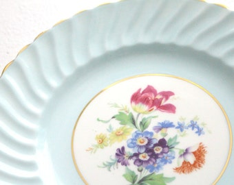 Vintage, English Bone China Dinner Plate by Aynsley, Pastel Blue, Tea Party, Replacement China - ca. 1934 - 1950s