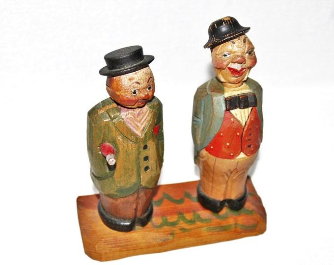 Wonderful Vintage set of Italian ANRI Hand Carved Corkscrew & Bottle Opener, Barware