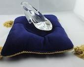 Cinderella Glass Slipper .925 Silver Heart Buckle with Swarovski Crystals Engagement-Alternate Listing