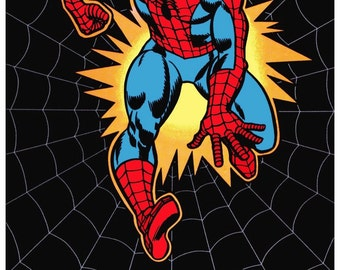 "SPIDERMAN Reproduction 1975 Marvel ""The Amazing Spiderman"" 24 x 36 Poster MINT - Spiderman Marvel Comics Collectibles Spiderman Poster"