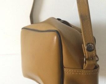 vintage mustard crossbody bag