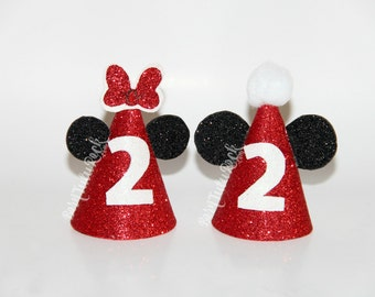 Mickey Party Hat // Minnie Birthday Hat // Mini Party Hat // by Born TuTu Rock
