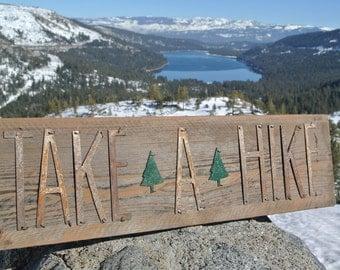 TAKE A HIKE - Reclaimed Wood Sign