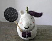 Felt Unicorn Tooth Fairy buddy, Needle Felted Fox Tooth Fairy Pillow, Childrens Gifts