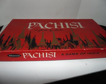 Vintage 1969 Pachisi Game of India Whitman's Board game Parcheesi 60s Complete