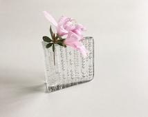 Modern Glass Solifleur Vase / Walther Glass / Vintage