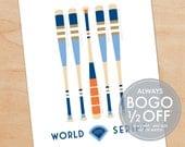 2015 World Series Print, Kansas City Royals, NY Mets Baseball Bat Print, father's day gift ideas, gift for husband, baseball fan