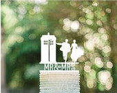 Dr Who Wedding Cake Topper - Couple Event Cake Topper - Laser Cut on Wood or Acrylic