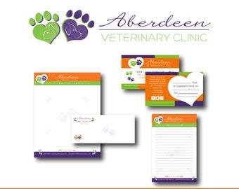 Custom Professional Branding, includes Custom Logo Design, Business Card, Letterhead, Envelope & Note Card Design