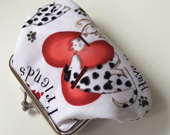 Forever friends dog themed metal frame purse