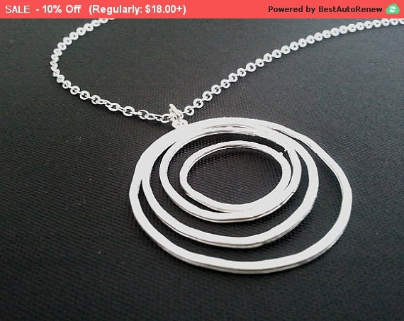 Forever Love Circle Pendant Necklace - charm, pendant, lariat, wedding, necklace,Valentine Gift
