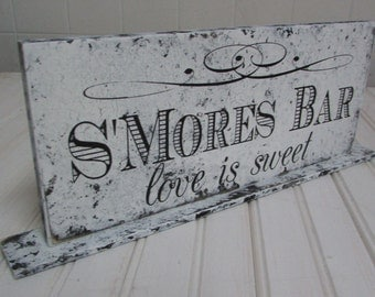S'mores Bar Sweets Table Sign Sweets - Candy Table or Party - Wedding Reception Wood Sign - Customized to your preference -