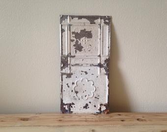 19th Century Ceiling Tin, Vintage Tin Tile, Antique Tin Ceiling, Architectural Salvage