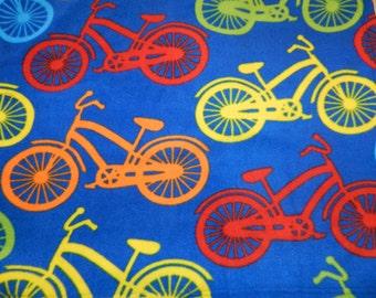 Colorful Bicycles Print Snuggie, Fleece blanket w/ sleeves