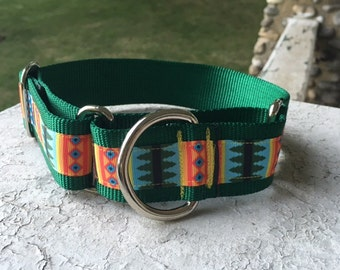 "Tribal Geometric 1.5"" Martingale Collar"