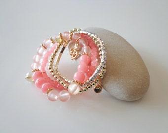 Bohemian Bracelet,Pink.