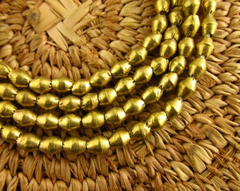 Nigerian Brass Bicone Beads