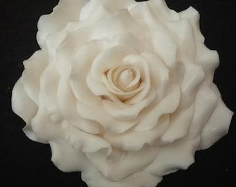 "1 Edible Ex Lg 5"" Gum paste ROSE  /  any color / Cake decoration / Fondant / sugar flower / wedding cake decoration / cake topper"