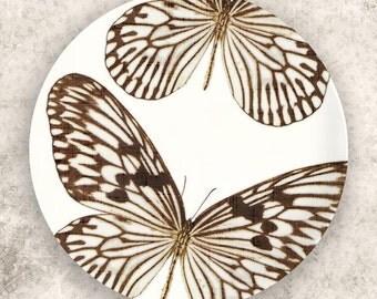Butterfly, brown butterfly melamine plate