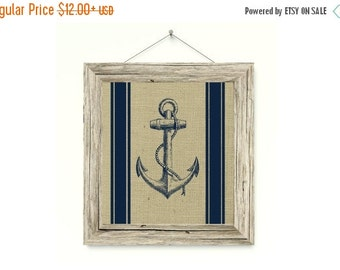 ONSALE Nautical Decor - Anchor Print- Custom Colors and Sizes