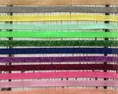Gorgeous Glitter/Frosted Elastic - 3/8 inch wide - 5 yards - You Choose the Colors! Tons of colors to choose from!