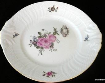 Royal Copenhagen Pattern 910, Ivory Dish, Handled Cake Plate Size: 10 3/4 in