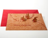 pop up card wood with envelope - imps
