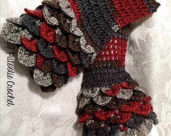 Dragon's Breath Fingerless Gloves-Crochet