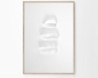 Crystal Quartz Art | Black and White Photography | Printable Art | Instant Download | Printable File | Monochrome Home Decor Wall Art