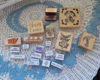 21 Group of Holiday Stamps Easter, Halloween , Saint Patricks and Christmas :)