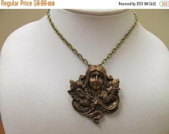 ON SALE Vintage Art Nouveau Inspired Necklace Item K # 1927