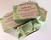 Garden Pea Soap,Cold Process, Natural and Gentle Exfoliating Soap, Made With Organic Ingredients