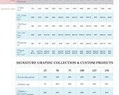 Printing Schedule - A la Carte Paperie