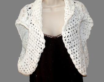 White Shrug Sweater Plus Size 71