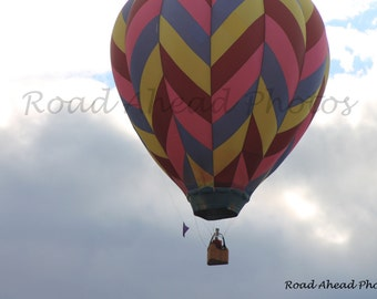5 x 7 matted photograph hot air balloon and clouds