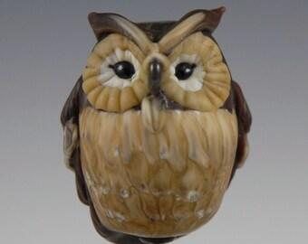 Horned Owl - Sculptural Glass Focal Bead