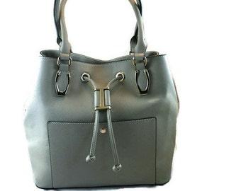 Gray Camera Bag    Ladies DSLR Bag   Camera and Ipad Bag  Ready to Ship