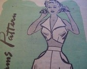 Vintage 1950's Anne Adams 4745 Halter Sun Bra. Skirt and Shorts Sewing Pattern, Size 12, Bust 30
