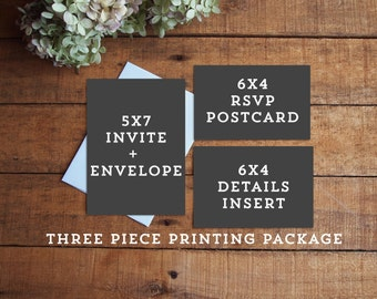 Three Piece Printing Package