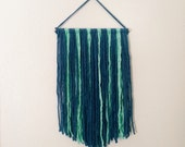 Blue Yarn Wall Hanging