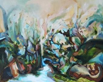 Stream Original Oil Painting 16 x 20