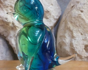 Glass Art Penguin paperweight figurine
