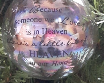Loved ones glass bauble