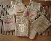 Burlap South of the Border Gift Favor Bags