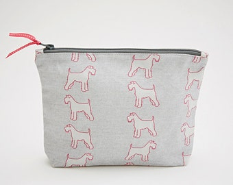 Schnauzer Grey Washbag